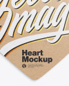 Kraft Heart Shaped Card Mockup