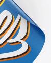 Textured Heart Shaped Sticker Mockup