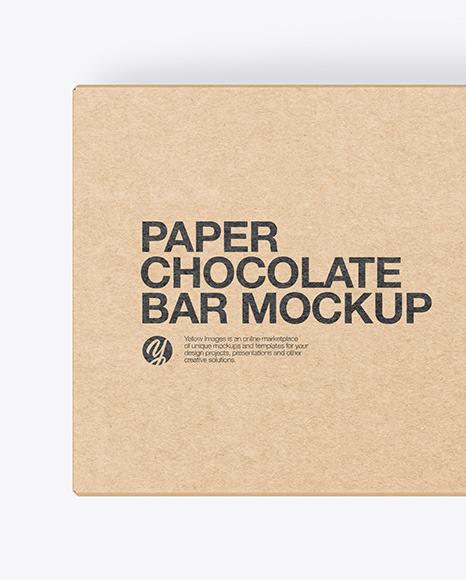 Kraft Paper Chocolate Bar Mockup
