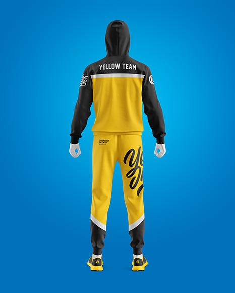 Men's Sport Suit Mockup - Back View