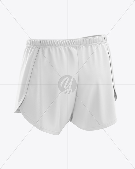 Men's Split Shorts mockup (Back Half Side View)