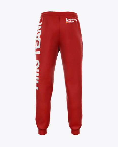 Sweatpants with Cord Mockup - Back View