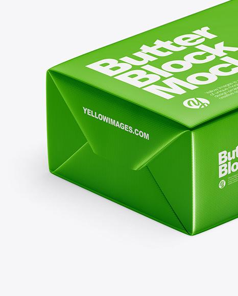 Metallic Butter Block Mockup