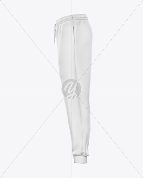 Sweatpants with Cord Mockup - Left Side View