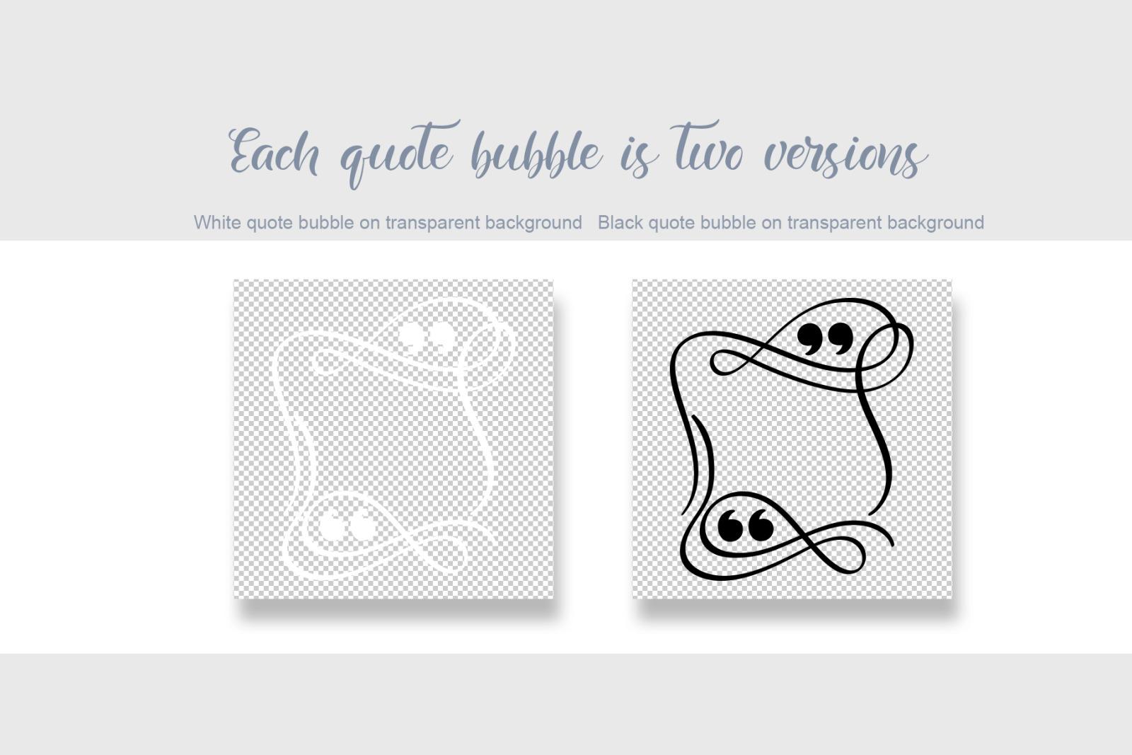 Calligraphic Quote Bubble templates