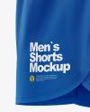 Men's Split Shorts mockup (Side View)