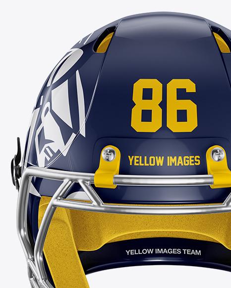 American Football Helmet Mockup