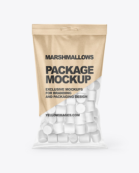 Bag With Marshmallows Mockup