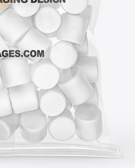 Bag With Marshmallows Mockup