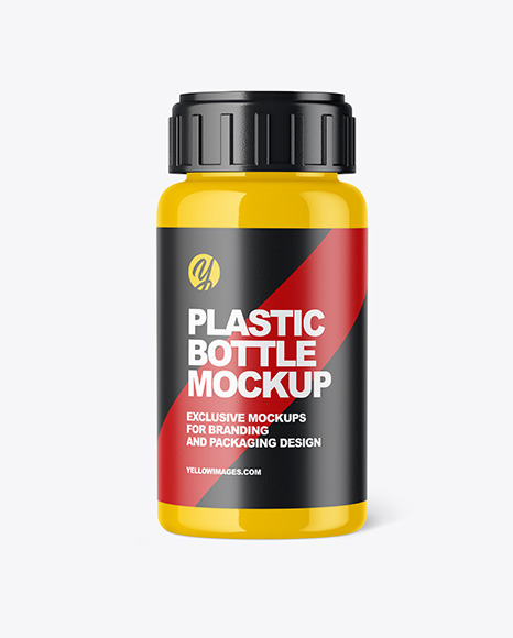 Download Matte Pills Bottle Mockup Yellow Author PSD Mockup Templates