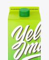 Matte Juice Carton Package Mockup