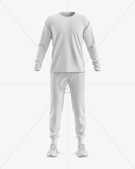 Men's Training Suit Mockup - Front View
