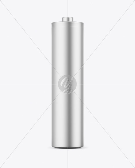 Matte Metallic Battery Mockup