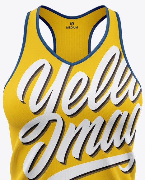 Women's V-Neck Tank Top Mockup - Front View