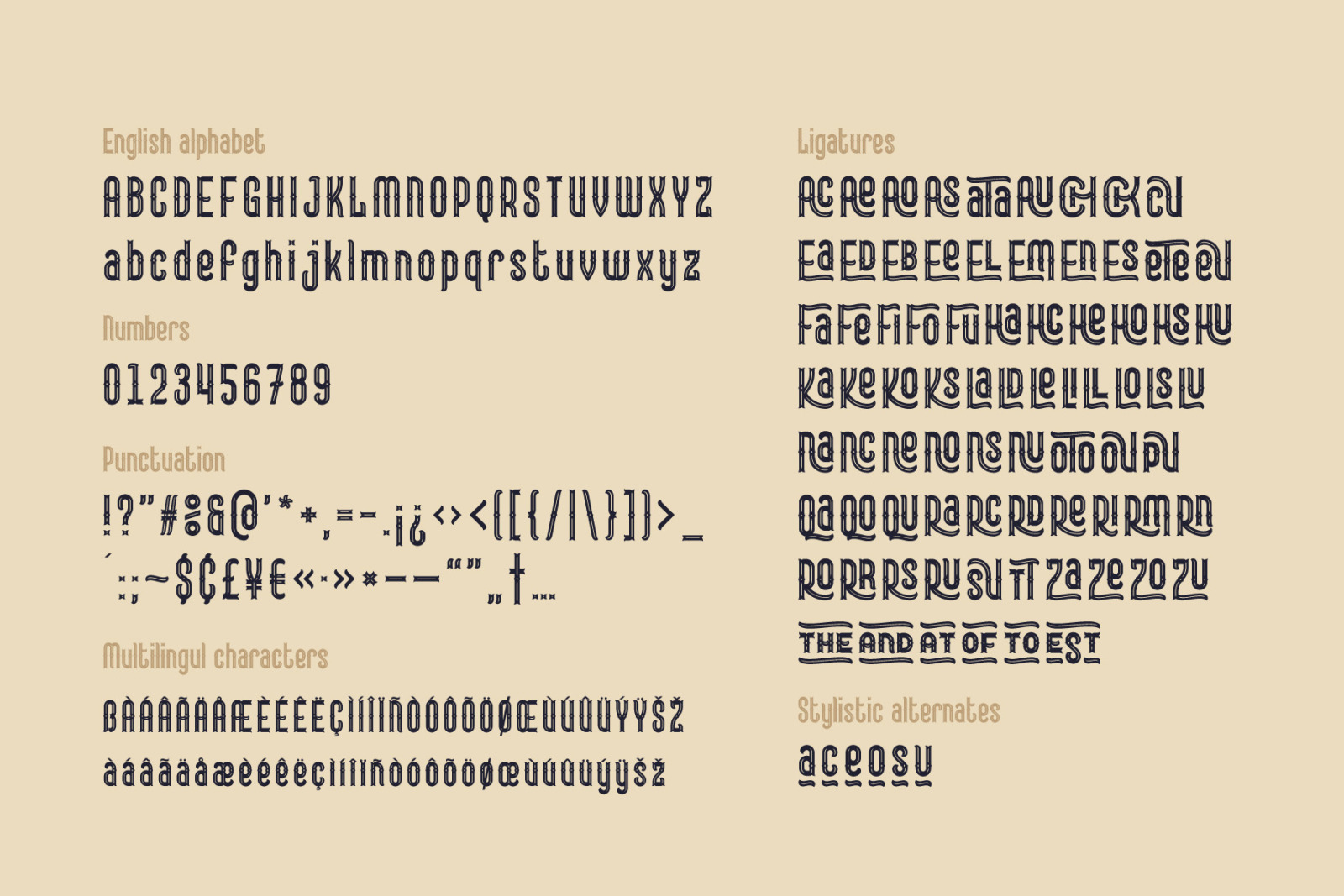 Lord Grayson font and template