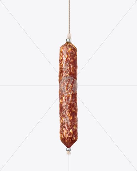 Cervelat Sausage Mockup