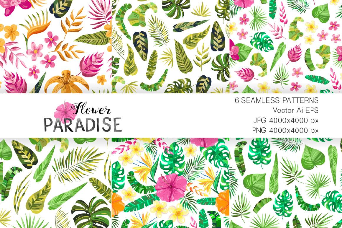 Vector Flower Paradise Set