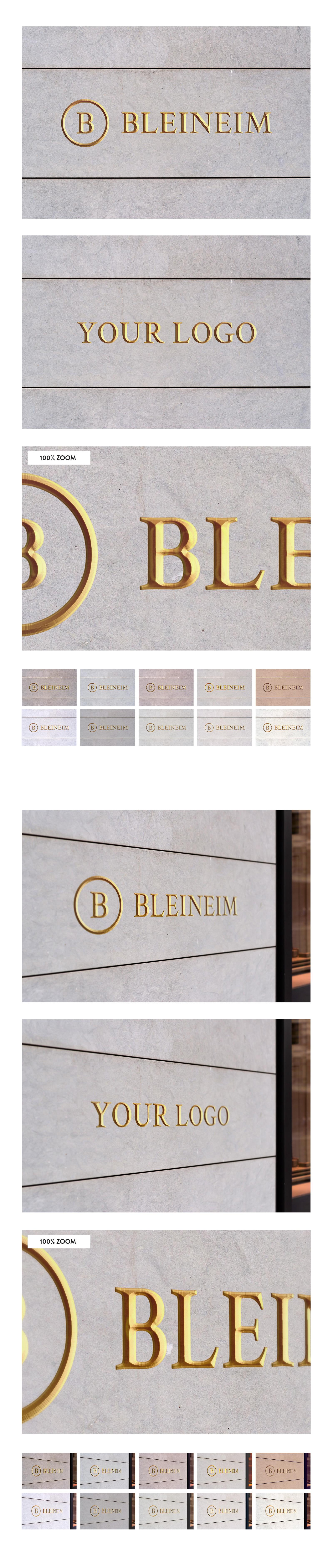50 sign facade logo mockup template bundle 2