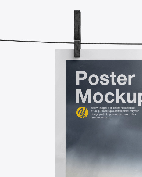 Crumpled A4 Poster Mockup