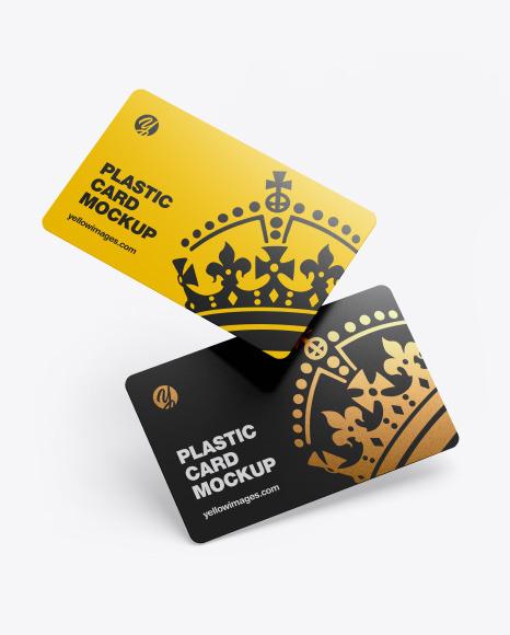 Plastic Cards Mockup