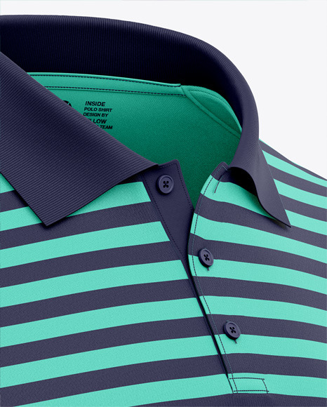 Men's Long Sleeve Polo Shirt - Front Half Side View