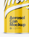 Glossy Aerosol Can Mockup