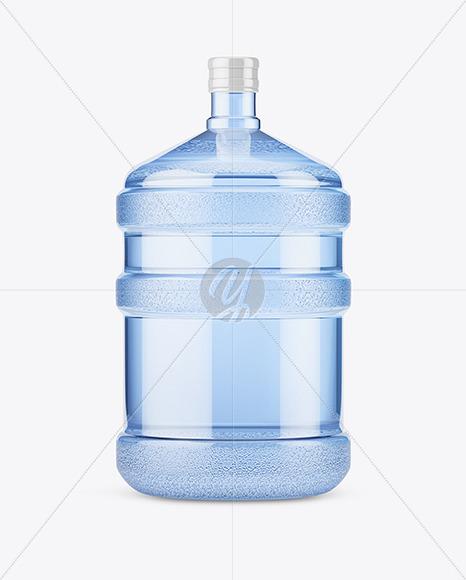 Download PET Plastic Water Bottle 20l Mockup - Front View Free Mockups