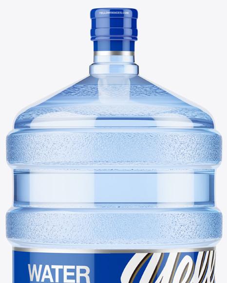 PET Plastic Water Bottle 20l Mockup - Front View