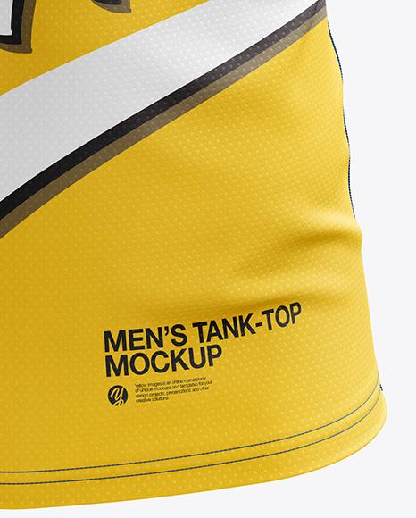Men's Sprinting Singlet mockup (Front View)