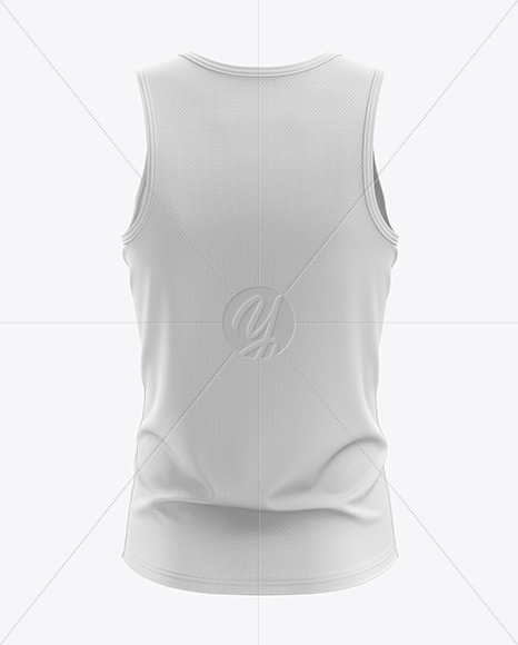 Men's Sprinting Singlet mockup (Back View)