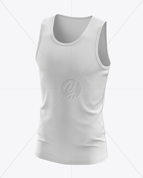 Men's Sprinting Singlet mockup (Half Side View)