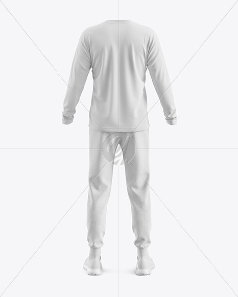 Men's Training Suit Mockup - Back View