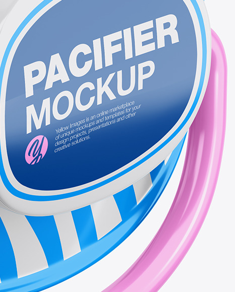 Pacifier Mockup - Half Side View