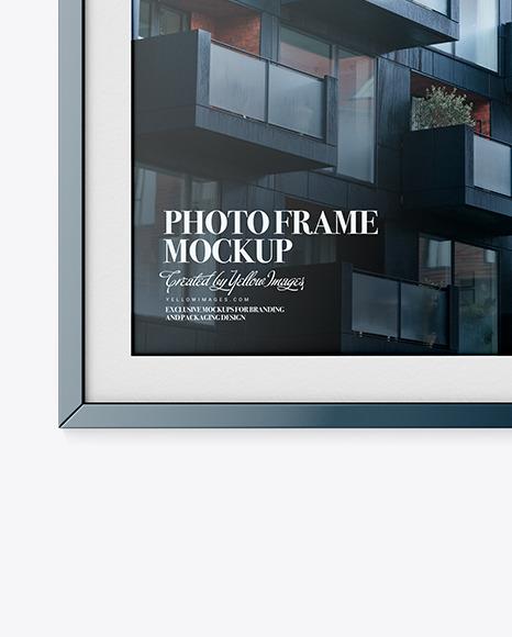 Glossy Photo Frame Mockup