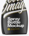 Matte Spray Bottle Side View Mockup