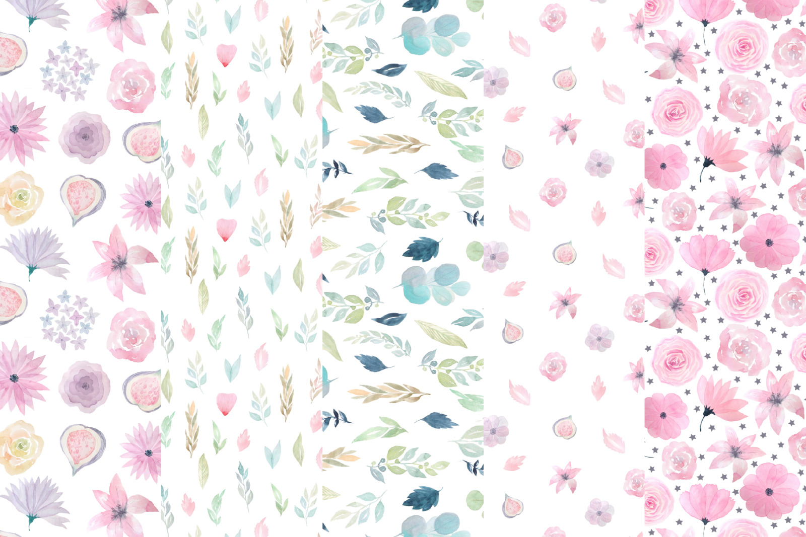 15 Morning Meadow Seamless Patterns