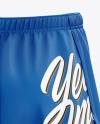 Men's Split Shorts mockup (Back View)
