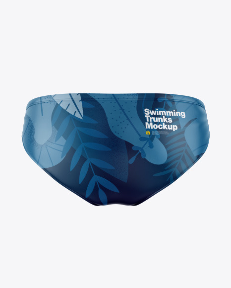 Glossy Swimming Trunks Mockup