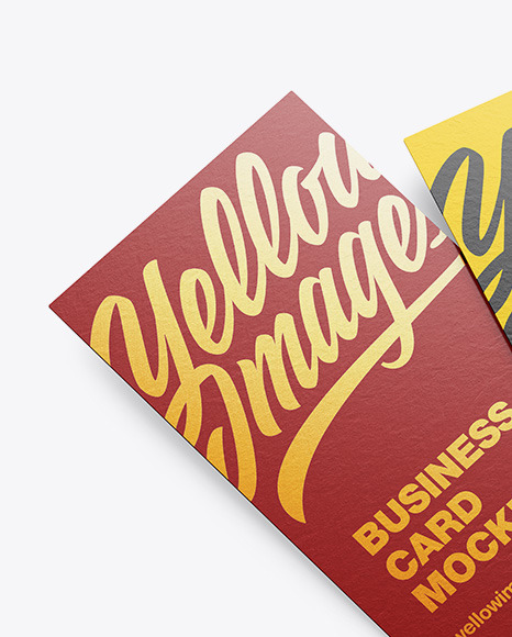 Two Paper Business Card Mockup