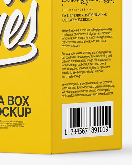 Tea Box Mockup - Half Side View