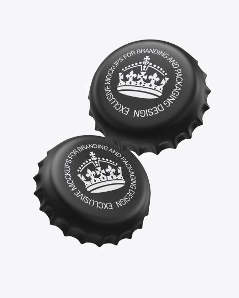 Matte Bottle Caps Mockup