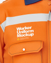 Worker Uniform Mockup – Front  View