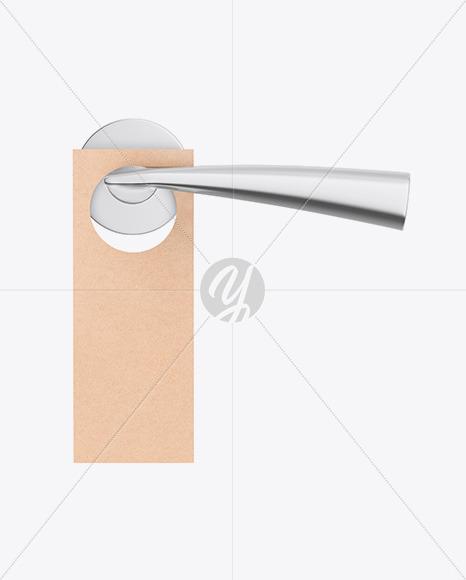 Kraft Door Hanger W/ Handle Mockup