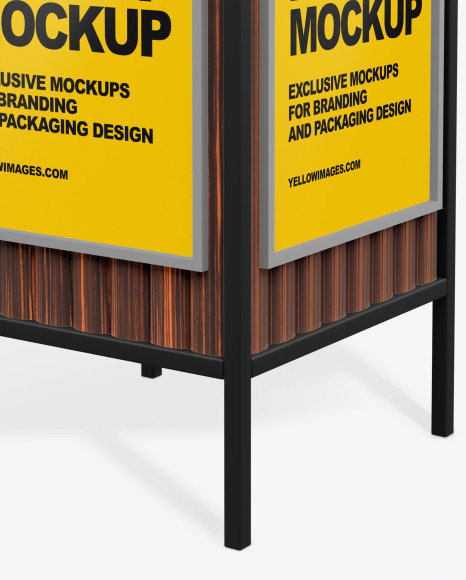 Advertising Rubbish Bin Mockup - Perspective View