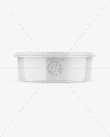 Glossy Food Plastic Tray Mockup