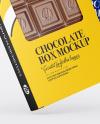 Two Glossy Chocolate Box W/ Window Mockup - Half Side View