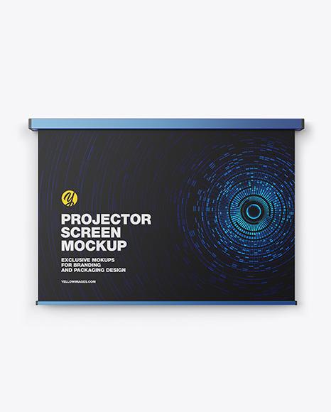 Metallic Projector Screen Mockup