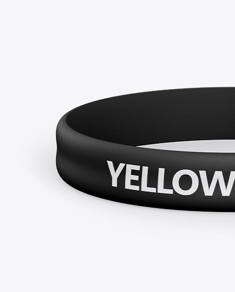 Matte Silicone Wristband Mockup
