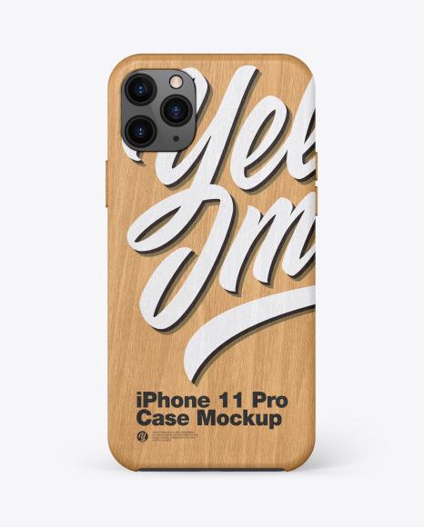 IPhone 11 Pro Wooden Case Mockup