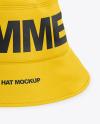 Bucket Hat Mockup - Front View (High-Angel Shot)